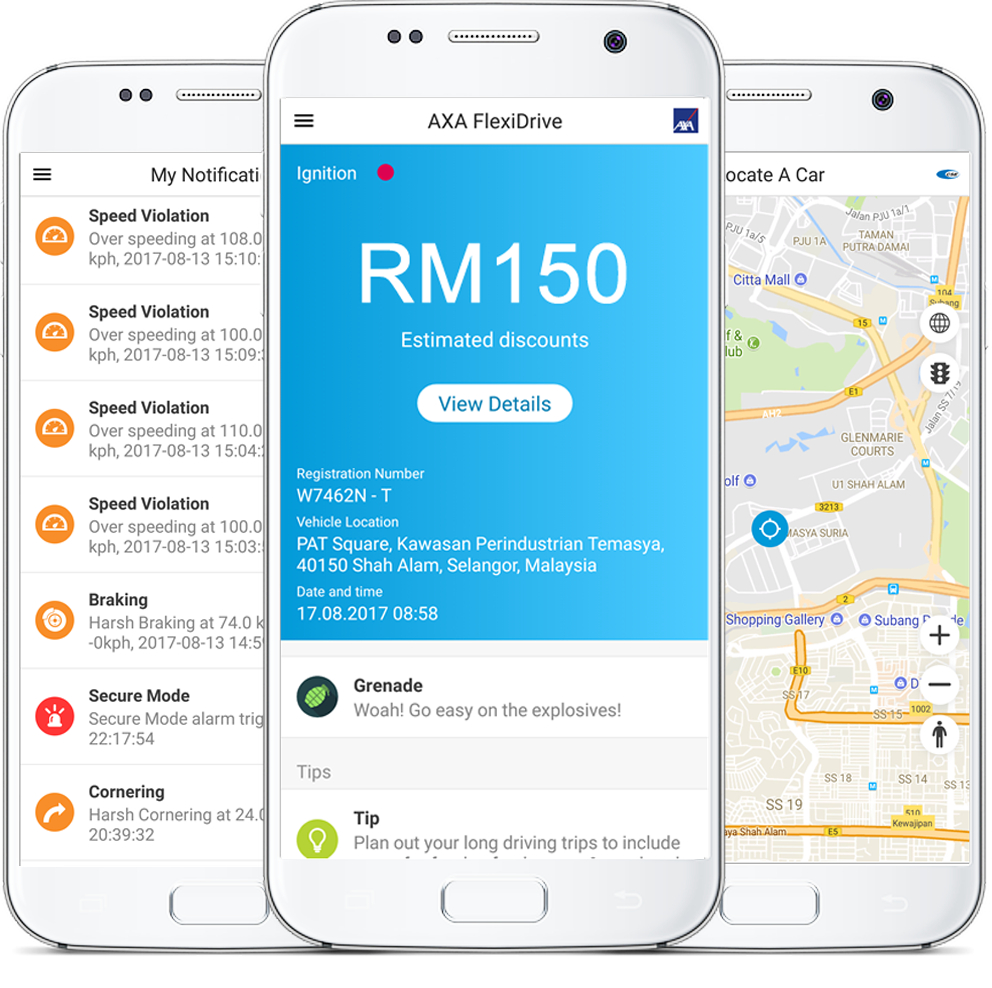 Axa FlexiDrive – мобильное приложение