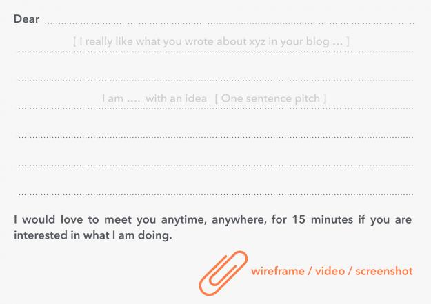 Очень емкий и простой шаблон письма от полезного для стартапов сервиса Appster
