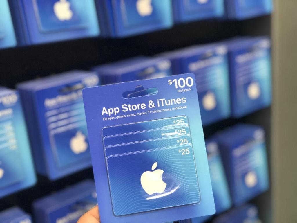 Карточка оплаты App Store & iTunes на 100$